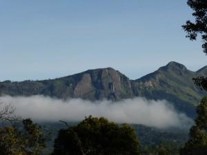 Nagamalai and Kolukkumalai seen above the clouds