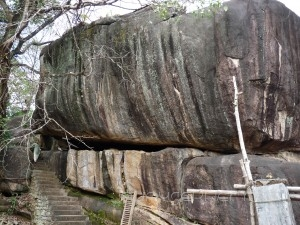 The huge granite structure that houses the shrine
