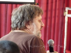 Sceptical and inquisitive:  Zizek always asking questions!