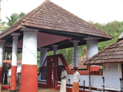 Perinjanam Pallyil Bhagavati temple north of Kodungallur.  The first installation by Pallyvanar in early 16th century.