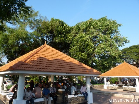 Renovated public square in East Fort, Tvm.