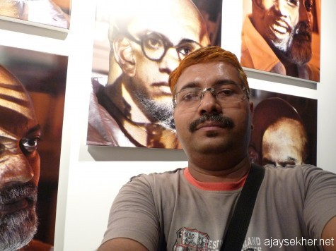 Biennale as self discovery and empowerment: Standing tall with Babasaheb's image.