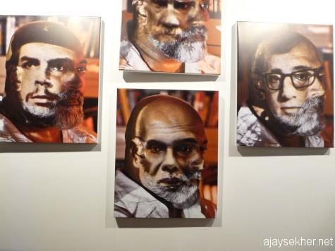 Digitally altered self portraits by Vivek Vilasini