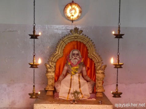 Idol of Sri Chatambi Swamy inside the fort in Tvm, a leading sage and reformer who fought the Vedic hegemony and caste during the Kerala renaissance.