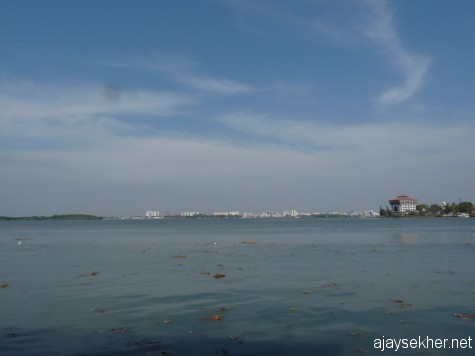 Part of Kochi city ion the mainland from Fort Cochin boat dock