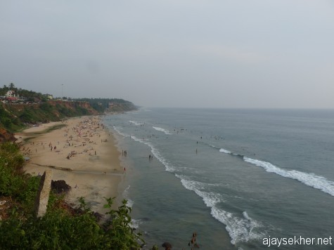Nature that washes away your sins; Varkala Papanasam beach: A view from the north of the cliff