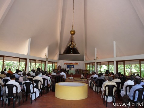 Inside the Gurukulam Convention Centre, Varkala.
