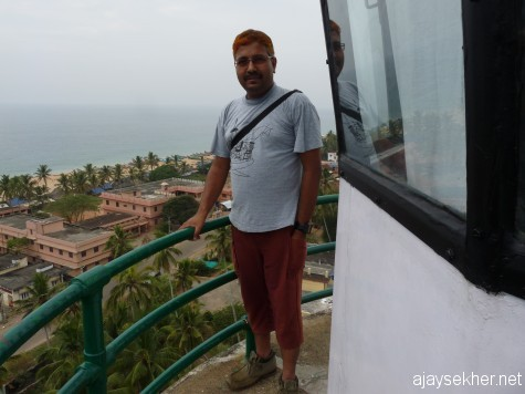 At the summit of Anjengo light house.   Photo:  Jerry Antony