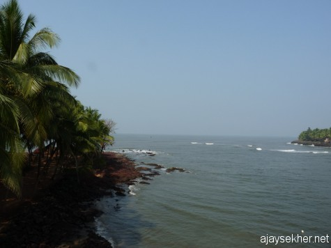 River mouth of Kadalundy where it empties into the Arabian Sea.