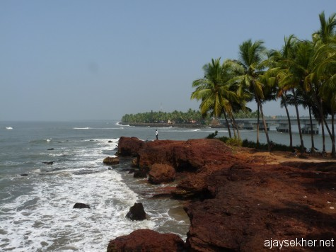 The laterite projection guarding the southern shoulder of Kadalundy river mouth.  It formed an ancient way in for the ships and became renowned all over the world as Kadalundy Nagaram.