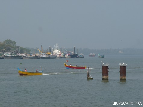 Bepur port from Chaliyam.  Bepur was made his second home by Bepur Sultan Basheer in the 20th century and Chaliyam was made into a strategic vantage by Tipu Sultan in 18th century.
