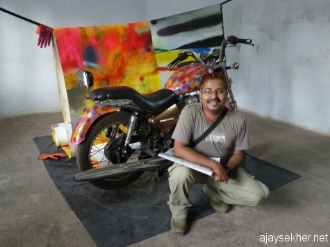 Before an installation using a motor cycle.