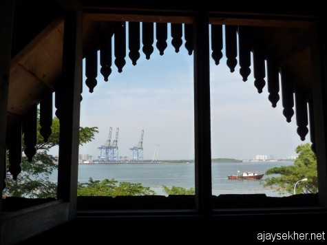 Kochi through the attic casement of Moidu Heritage a prominent venue of 2012 Biennale Kochi-Muziris.