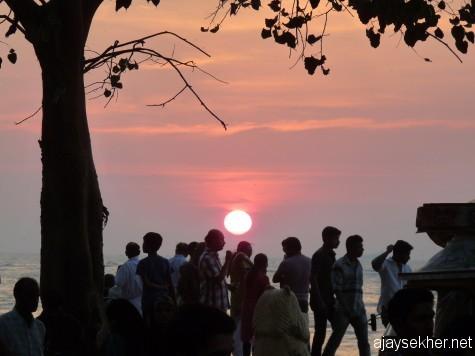 Sunset at Fort Kochi beach.