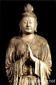 Buddha in Pranama posture, Temple of Nara, Japan. C. 8th century AD