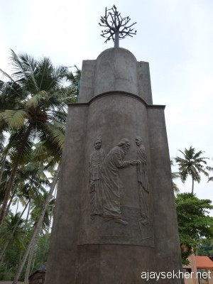 Aruvipuram installation of Narayana Guru (1888): A bass relief by Chavara Vijayan at Kayikara