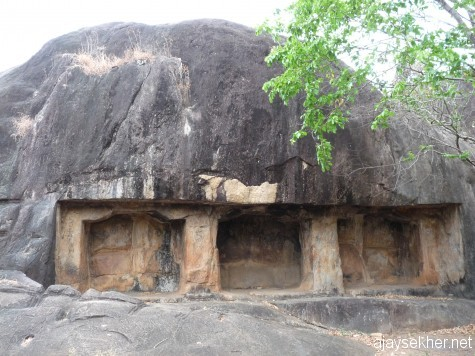 Rock cut vestige at Bhranthan Kallu east of Tiruvegapura in Palakad district.  Exactly like the Buddhist vestiges identified at Kattilapara in Kulatupuzha.