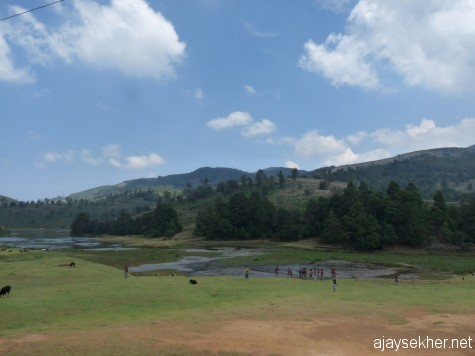 Naduvattam lake in the Nilgiri plateau.