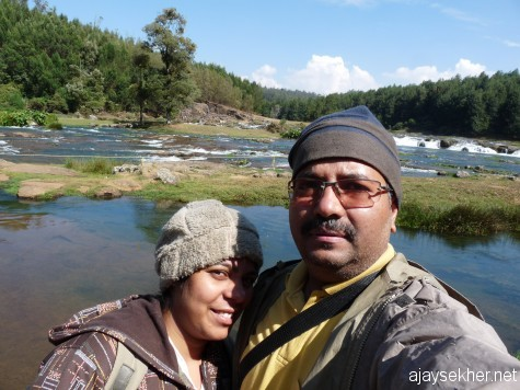At Pykara falls with Jaime, early march 2013.