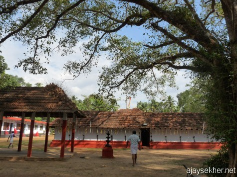 Palyil temple, Perinjanam: A View from the east.