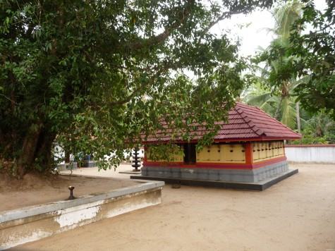 The family temple enshrining the ancestors as Achan at Changaram Komarath near Mullasery