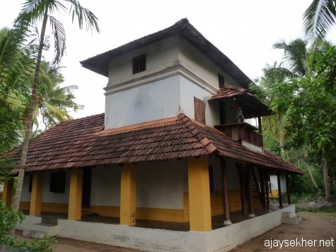 The remaining block of the old Ettukettu of Changaram Komarath household of Mitavadi C Krishnan near Mullasery, Thrissur district of Kerala, early April 2013.