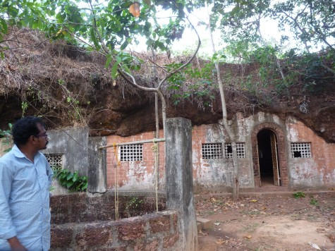 Western opening of Pariyapuram Buddhist cave. Early April 2013