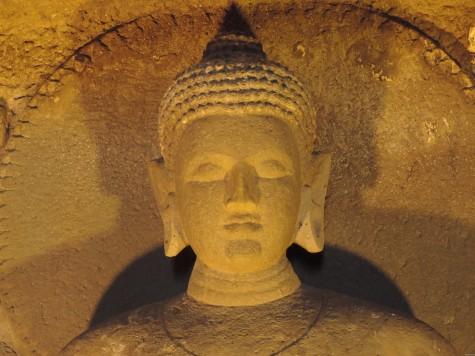 A young Buddha in Ajanta.  25 May 2013 Buddha Purnima