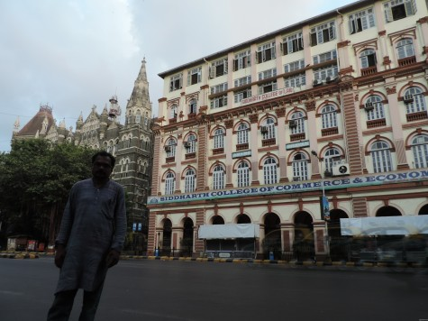 Anirudh before Sidharth College Mumbai established by Dr Ambedkar; 26 May 2013.