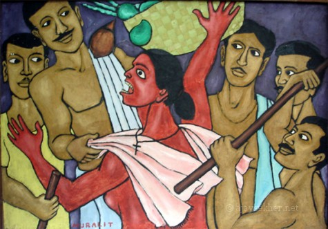 Caste lords violating the honour of Avarna women in public: Channar Woman by Chitrakaran T Murali