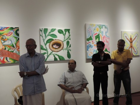 M K Sanu making the inaugural speech on 18 Sept 2013 at D H Hall Kochi, Gallery E