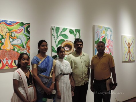 Emerging poet Swati and family from Mavelikara at the show.