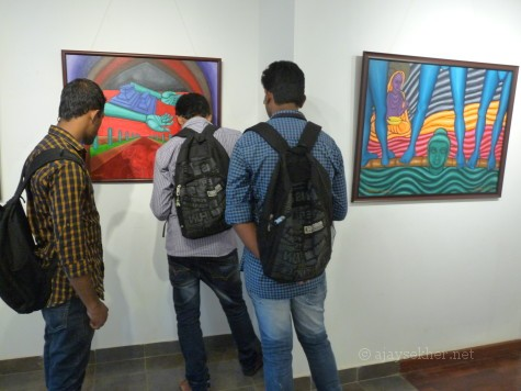 "Students and youth at ""image/carnage 2"" at Calicut"