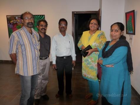 Umar Tharamel, L Thomaskutty, T Murali, V Pratibha and Janaky Sreedhar at image/carnage 2 at Calicut.