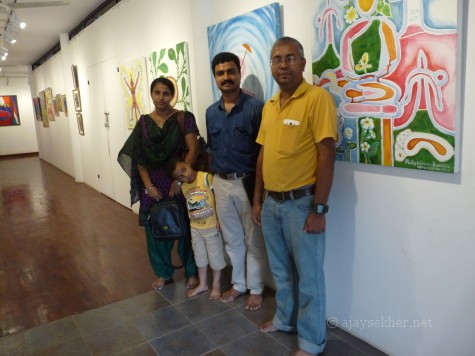 Santhosh Manichery and family from Talasery at image/carnage 2 at Calicut.