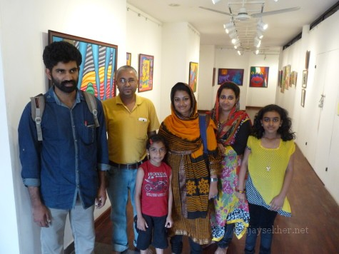 With friends Noushad, Sajna and family in image/carnage 2 at Calicut.