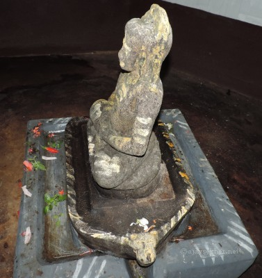 Buddha idol and pedestal were recovered 50 years ago from the Topil plot and was enshrined in the Pagoda in 1964.  Identification and Photo by Ajay Sekher 16.8.2014