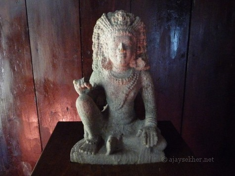 Boddhisatva idol from Karapuram/Chertala. Raja Leelasana posture, hairdo and ornaments are marked features
