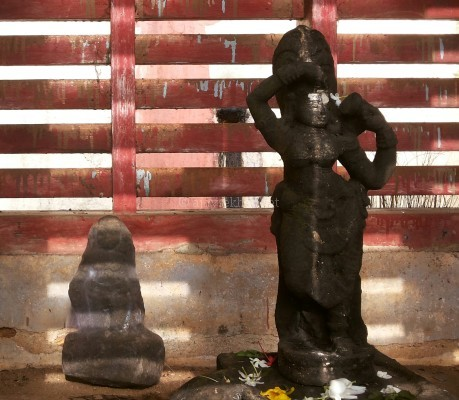 Ancient idols of Tara and Mahamaya now put in an outer shrine marked as Yakshi at Trikariyur temple. Parasurama the Brahman with the axe is also worshiped in a subshrine.