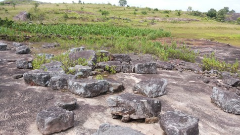 Relics of pebble cemetery at Tolanur in Palakad