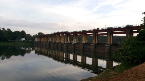 Bhoothathankettu barrage across Periyar near Kotamangalam in Ernakulam district of Kerala
