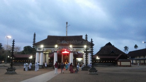 Vaikam temple, a view from east. 27 Sept 2015.