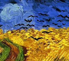 Wheatfield with Crows by Vicent van Gogh. Oil on Canvas. 1890